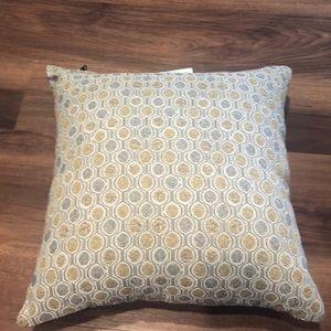 NWOT Anthropologie grey/mustard throw pillow